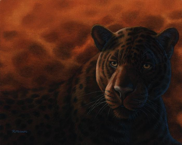 Jaguar painting by Rochelle Mason
