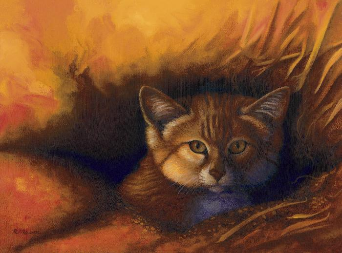 Sand cat painting by Rochelle Mason