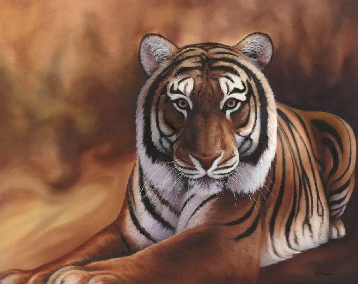 Tiger painting by Rochelle Mason